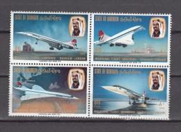 Bahrain 1976,4block,concorde,flugzeug,vliegtuig,airplane,MNH/Postfris(E4568us) - Concorde