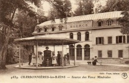 CPA - CHARBONNIERES-les-BAINS (69) La Source Des Eaux Minérales - Charbonniere Les Bains