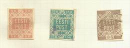 Estonie N°1 à 3 Cote 3 Euros - Estonia