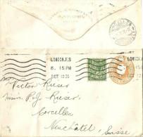 GS Brief  London - Corcelles              1920 - Grossbritannien