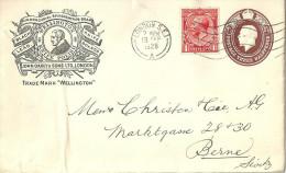 "GS Brief  ""Wellington Knife Polish, London""              1928 - Grossbritannien"
