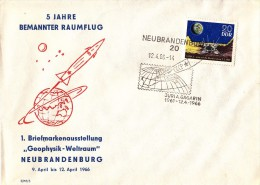 GAGARIN First SPACE Cosmonaut  Rocket Ship Vostok - 1966  DDR /  Germany Post Cover - RARE !!! - Europa