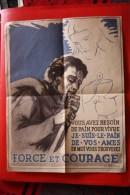 affiche force et courage 1943 ( luc barbier)