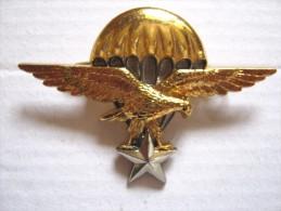RARE INSIGNE BREVET PARACHUTISTE EN DOREE ARMEE DJIBOUTI  ETAT EXCELLENT DRAGO PARIS - Army
