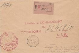 Algerie Algeria 1961 Poste Aux Armees AFN Et Le Numero 53 (Rare!) Au Verso Official Unfranked Registered Cover - Marcofilie (Brieven)