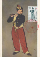 D20070 CARTE MAXIMUM CARD FD 1963 FRANCE - RED CROSS THE FIFE PLAYER BY MANET ORIGINAL - Music