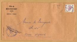Enveloppe Brief Cover Elström Ville De Rochefort - Belgique