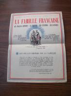 """Affiche message du mar�chal P�tain """"La famille"""""""