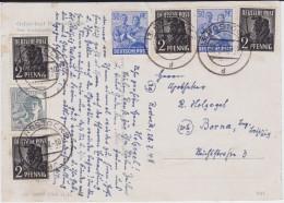 SBZ Zehnfachfrankatur Div Kte Rostock Mecklenburg 1948 - Sowjetische Zone (SBZ)