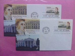 1981 Joint USA / Ireland James Hoban Death 150th Anniv. Pair Of Spectrum FDCs With Both US Stamps - Emissions Communes