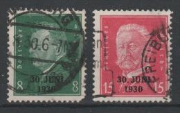 ALLEMAGNE - 1930 - Deutsche Reich - Obl. - Michel 444/445 - - Germany