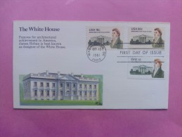 1981 Joint USA / Ireland James Hoban Death 150th Anniv. Fleetwood FDC With All Three Stamps - Emissions Communes