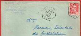 Wittisheim 23.4.1949  Bas-Rhin Entête:  Rép.Installation Electro MécaniqueT.S.F.Alfred Braun - Marcophilie (Lettres)