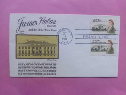 1981 Joint USA / Ireland James Hoban Death 150th Anniv. Gamm FDC Both US Values - Emissions Communes