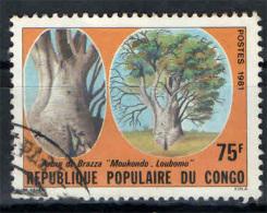 CONGO BRAZZAVILLE - 1981 - ALBERO DI BRAZZA - BAOBAB - USED - Congo - Brazzaville