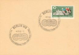 107c CICLISMO DDR 15° CORSA PACE ANNULLO BERLINO 4-5-1962 SU CARTOLINA POSTALE - Ciclismo