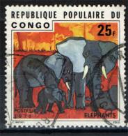 CONGO BRAZZAVILLE - 1976 - ELEFANTI - USED - Oblitérés