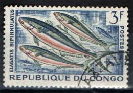 CONGO BRAZZAVILLE - 1961 - PESCI - USED - Congo - Brazzaville