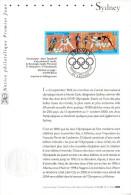 """FRANCE 2000 : Notice Officielle 1er Jour  """" J.O. DE SYDNEY """" N° YT 3340A. Parfait état !"""