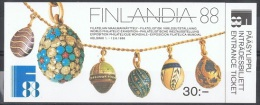 ORF-L1 - FINLANDE Carnet N° 1014 FINLANDIA 88 - Oeufs De Fabergé - Carnets
