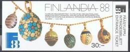 ORF-L1 - FINLANDE Carnet N° 1014 FINLANDIA 88 - Oeufs De Fabergé