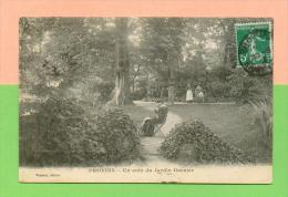 CPA  FRANCE  77  ~  PROVINS  ~  Un Coin Du Jardin Garnier  ( Vernant 1914 )  Animée - Provins