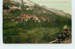 BANFF HOTEL And Mount Rundle. - Banff