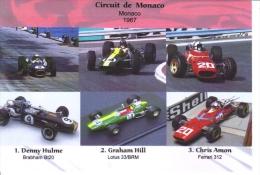 Grand Prix De Monaco 1967-  Denny Hulme (Brabham) - Graham Hill (Lotus) - Chris Amon (Ferrari) -  Carte Postale - Grand Prix / F1