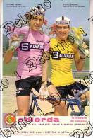 Ciclismo CARTOLINA PUBBLICITARIA CHIORDA ---- -- ADORNI E GIMONDI-- - Ciclismo