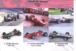 Grand Prix De Monaco 1966-  Jackie Stewart (BRM) - Lorenzo Bandini (Ferrari) - Graham Hill (BRM) -  Carte Postale - Grand Prix / F1