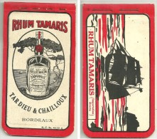 RHUM TAMARIS - TARDIEU  & CHAILLOUX Bordeaux - CARNET De COMMANDES - - Alcools