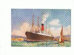 "CPA BATEAUX Cunarder ""Carpathia"" Leaving Messina - Paquebots"