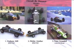 Grand Prix De Monaco 1964 -  Graham Hill (BRM) - Richie Ginther (BRM) - Peter Arundell (Lotus) -  Carte Postale - Grand Prix / F1