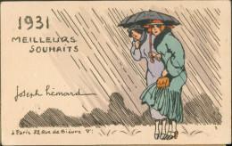 Héamrd - 1931 Meilleurs Souhaits -  2 Femmes - Illustrateurs & Photographes