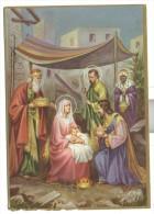 Buon Natale Nascita Di Gesu' Viaggiata Formato Grande Ottimo Stato - Noël