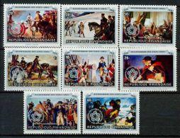 RWANDA 1976 - Peintures, Bicent independence des Etats-Unis II, surcharg�s Independence Day - 8 val Neuf // Mnh