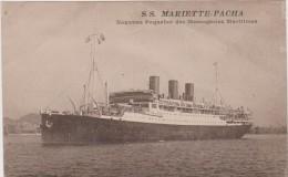 PAQUEBOT : S.S.MARIETTE - PACHA- NOUVEAU PAQUEBOT DES MESSAGERIES MARITIMES. - Dampfer