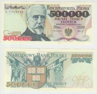 Poland 500000 Zlotych 1993 Pick 161 UNC - Poland
