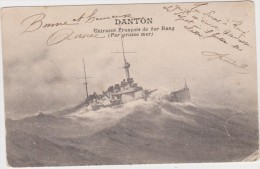 CUIRASSE FRANCAIS DE 1° RANG (Par Grosse Mer)-  DANTON - - Warships