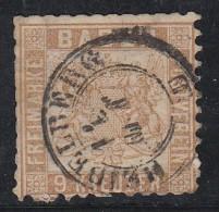 Bade N°19a  9 Kr Brun Pale - Bade