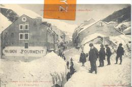 Catastrophe De BAREGES  - Entrée De La Ville Aprés L'Avalanche Du 9 Février 1907 , Trés Bon état ( Voir Scan ) - Autres Communes