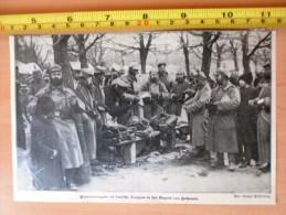 DOCUMENT PHOTO Proviantausgabe An Deutsche Truppen In Der Gegend Von Ciechanów  1914 - Vieux Papiers
