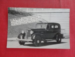 1934 Plymouth  - Car Dealer Wellington Kan-----1806 - Turismo