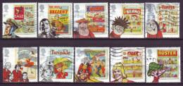 GB - 2012 - MiNr. 3225-3234 - Comic - Used - Gestempelt - Usati