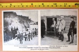 DOCUMENT PHOTO Österreichisch-ungarische Truppen Im Winterlichen Karpatengelände Notbrucke In Der Bukowina Pruth - Vieux Papiers