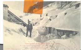 Catastrophe De BAREGES  - Les Maisons Sous La Neige , Trés Bon état ( Voir Scan ) - Autres Communes