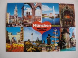 Postcard Postal München Munich Bilder Von Links Nach Rechts - Muenchen