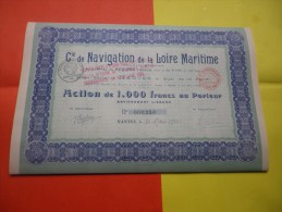 Cie DE NAVIGATION DE LA LOIRE MARITIME (capital 0,8 Million Porté 1,3 Million) Nantes,loire Atlantique - Shareholdings