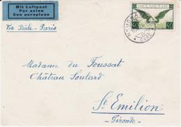 Devant De Lettre - NEUCHATEL (Suisse) Pour ST-EMILION (France) 1936 - P. Avion N° 14 Ou 14a (Lot LE22) - Airmail
