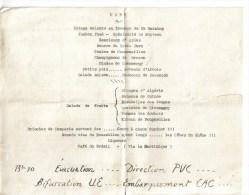 MENU REPAS NOEL1954 CANTINE SOLVAY - Menus